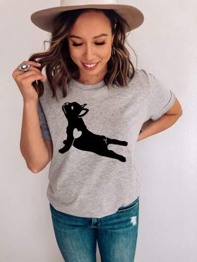 Dog Yoga Pose French Bulldog Shirt Funny Dog Lover T-Shirt