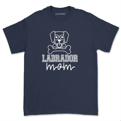 Labrador Mom Shirt Casual Lab Mama tshirt Funny Dog mom Tee Labrador Retriever T-shirt Tops Mother's Day Gifts