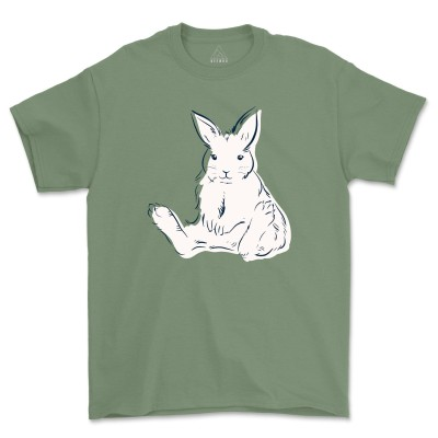 Floral Rabbit Shirt Bunny Shirt Easter Shirt Nature Lover Silhouette Rabbit