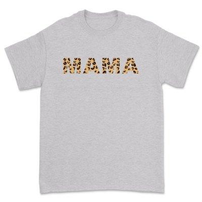 Womens Madre Leopard Print T-Shirts Short Sleeve Mama Shirts Cheetah Mom Graphic Tees Tops