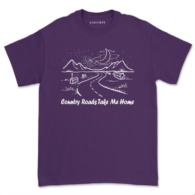 Country Roads Take Me Home Shirt Women's Cowboy Western Tee Women Country Music tshirt Men Rural Country Girl T-Shirt