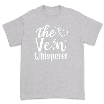 The Vein Whisperer Shirt Casual Phlebotomist Nurse T-Shirt Mama Nurse Gift Summer Short Sleeve Tee Tops