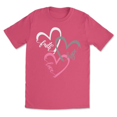 Women's Faith Love Hope Heart Tee T-Shirts