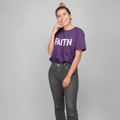 Faith Can Move Mountains Shirt Women Casual Christian Prayer Religious Tee Tops Nature Lover Gift