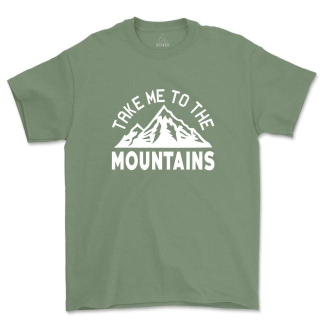 Take Me To The Mountains Shirt Camping Hiking Landscape T-Shirts