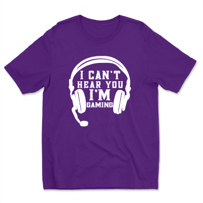 I Can't Hear You I'm Gaming Funny Gamer Lover Gift Headset Unisex T-Shirt Tee
