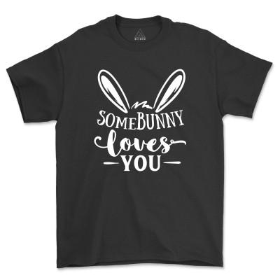 Somebunny Loves You Shirt Cute Bunny Adorable Rabbit Tee Shirt
