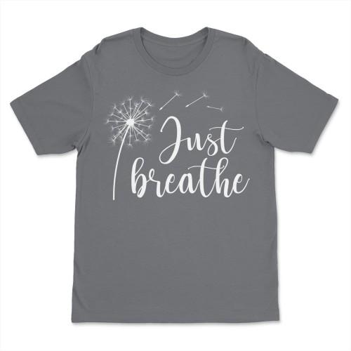 Just Breathe Shirt Dandelion Yoga Tee Shirts