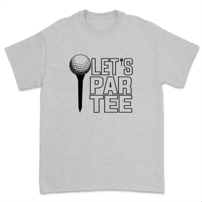 Let's Par Tee Golf Shirt Comfy Golf Playing Tee Tops Casual Short Sleeve Gift for Golf Lover