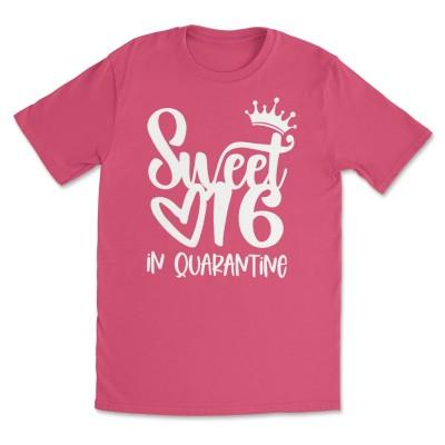 Sweet 16 in Quarantine Shirts 16th Birthday Gift Tee