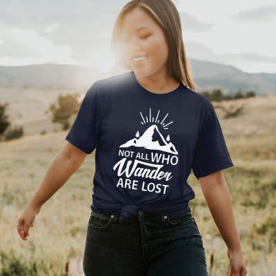 Not All Those Who Wander Are Lost T-shirt Traveller Explorer Boho Lover Shirt