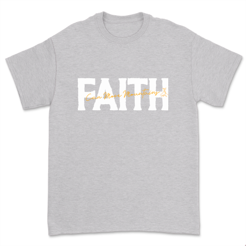Faith Can Move Mountains Shirt Women Casual Christian Prayer Religious Tee Tops Nature Lover Gift