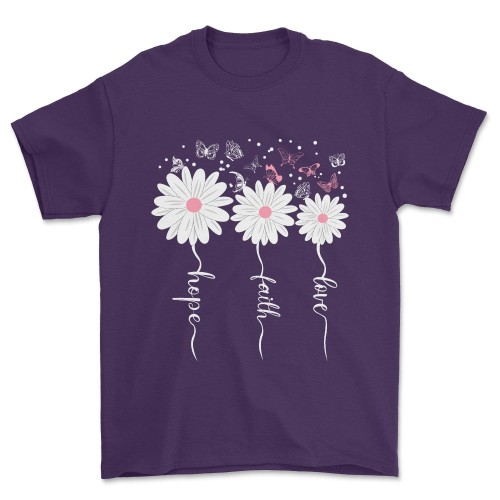 Faith Hope Love Butterfly Tee Daisy Shirts