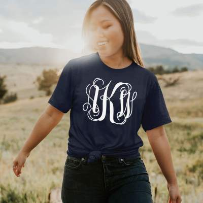 Monogrammed Bridesmaid Gift Shirt Monogram Gift Idea Tee