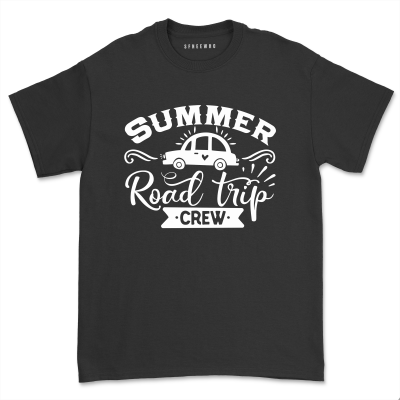 Summer Road Trip Crew Shirt Family Friends Vacation Road Traveling T shirt Girl's Bachelorette Birthday Party Trip Tops Tee