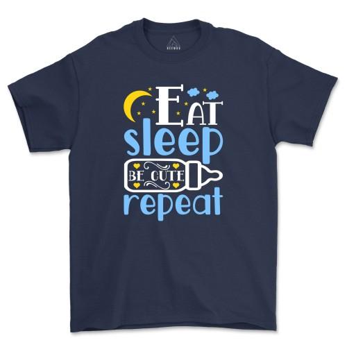 Eat Sleep Gym Repeat Shirt Workout Exercise Tee Weight Lifting T-Shirt
