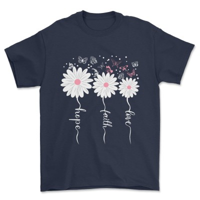 Faith Hope Love Butterfly Tee Daisy Shirts