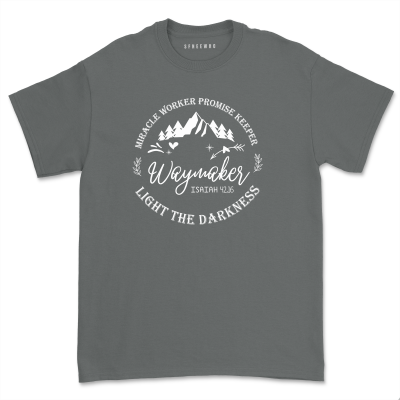 Miracle worker Promise Keeper Waymaker Shirt Unisex Light in the darkness T-shirt Casual Christian Isaiah Bible 42:16 Tee