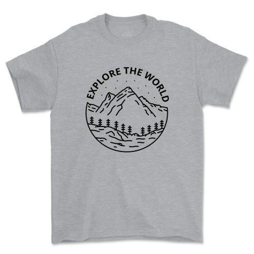 Explore The World Shirt Camping Adventure Tshirt
