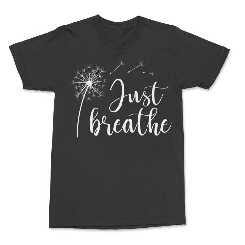 Just Breathe Shirt Dandelion Yoga Tee Shirts