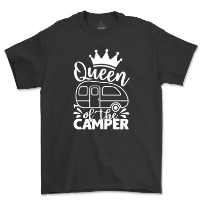 Queen Of The Camper T-Shirt Camping Buddie Hiking Gift Shirt Nature Lover Adventure Gift