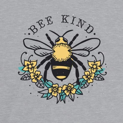 Bee Kind Floral Shirt Inspirational Positive Quote Mom Flower Graphic T-Shirt