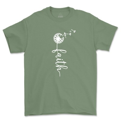 Faith Jesus Christian Shirt Vertical Cross Religious Tee
