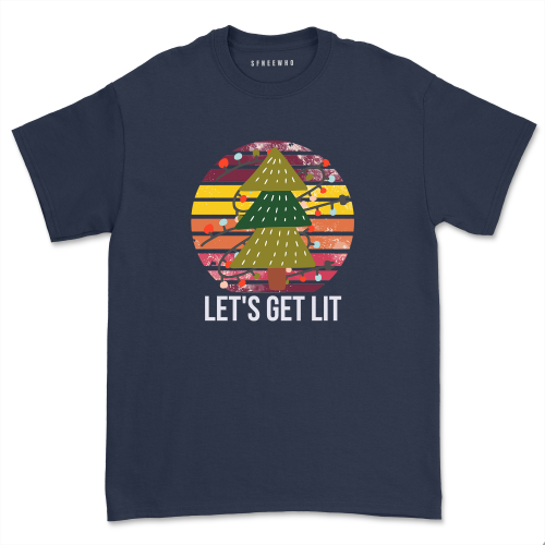 Lets Get Lit Hanukkah Party Shirt Funny Menorah Jewish T-Shirts Unisex Merica Firework Christmas Tops Tee