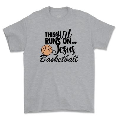 This Girl Runs on Jesus Shirt Christian T-Shirts