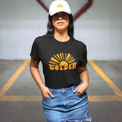 Golden Shirt Summer Sunrise Tee Casual Sunburn Vacation Beach tShirt Tops Women Short Sleeve Sunset T-Shirt