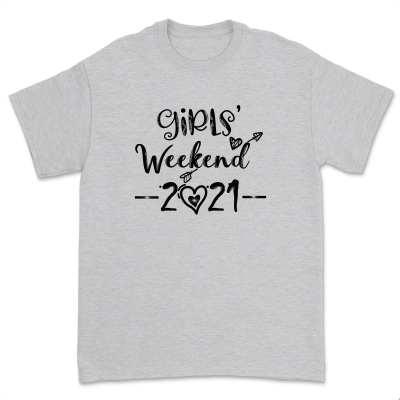 Girls Weekend 2021 Shirt Funny Girls Matching Vacation Trip Womens Camping Bachelorette Party Weekends vibes Tops Tee
