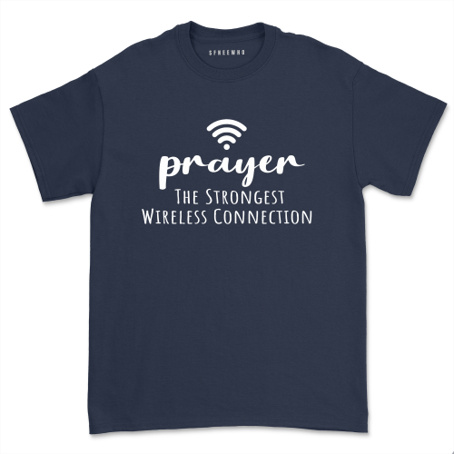Prayer Definition The Strongest Wireless Connection Shirt Women Faith Religious Church Short Sleeve Tops Tee