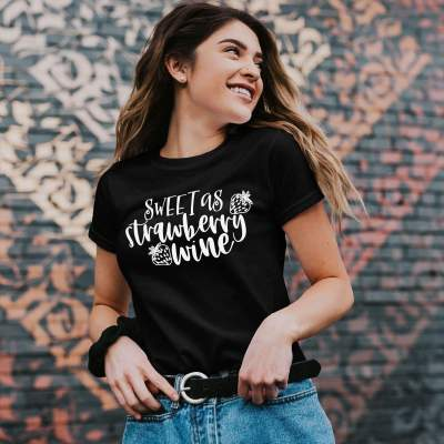 Sweet As Strawberry Wine Shirt Couples Gift Shirts Matching Couples Shirt