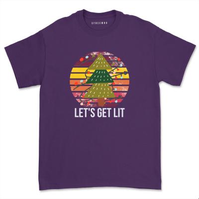 Lets Get Lit Hanukkah Party Shirt Funny Menorah Jewish T-Shirts Unisex Merica Firework Christmas Tops Tee