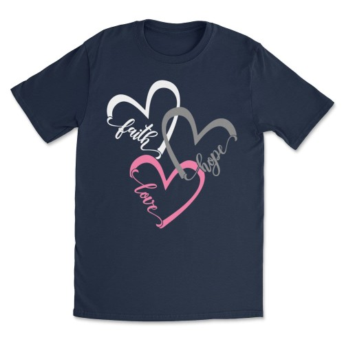 Women's Faith Love Hope Heart Tee T-Shirts