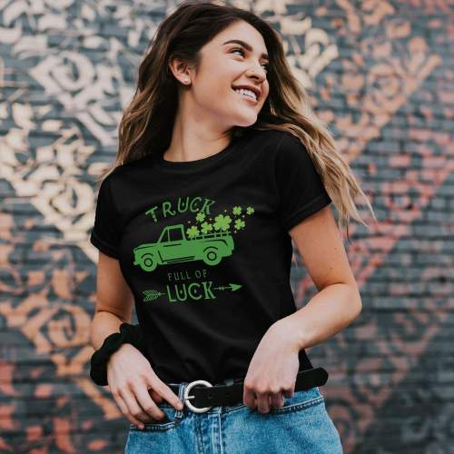 Funny St. Patrick's Shirt Truck Full Of Luck Shirts St Paddy's Day Truck Tee