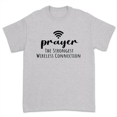 Prayer Definition The Strongest Wireless Connection Shirt Women Faith Religious Church Short Sleeve Tops Tee