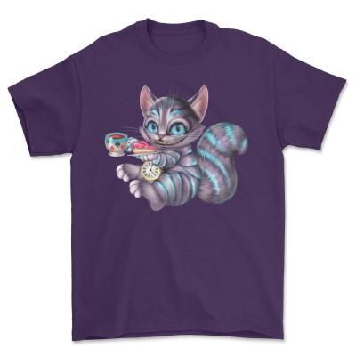 Cheshire Cat T-Shirt Coffee Sandwich Cat Tee