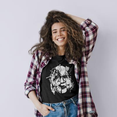 Horror Halloween Shirt Scary Movie Spooky Skull Head T-shirt Funny Short Sleeve Tee Tops
