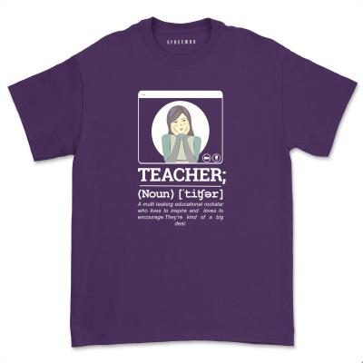 Teacher Definition Shirt Women Casual Short Sleeve Teacher Appreciation School Tee Shirt