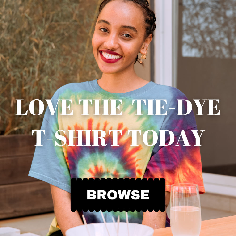 Tie dye shirt collection