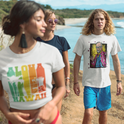 Hawaiian Shirts for Men Funny Unisex Hawaii Freud T-Shirts Plus Size