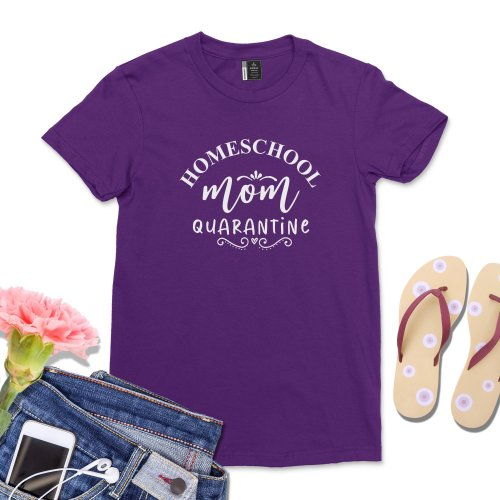 Mom Quarantine Homeschool Life shirt Cute Virtual learning Homeschool teacher tshirt Casual mama wife gift