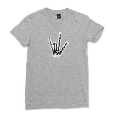 ASL I Love You Hand Skeleton Shirt American Sign Language T-Shirt for Sign Language Gifts Tee for Women