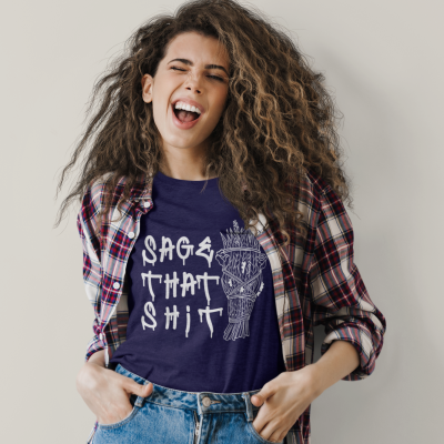 Sage That Shit Shirt Boho Hippie Meditation T-Shirt Women Positive Energy Sage Lovers Tee Witchy tshirt