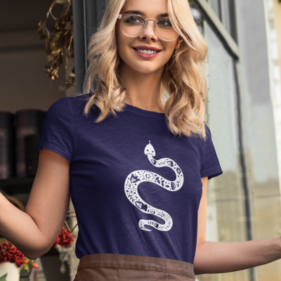 Floral Snake Shirt Women Reptile Pet Lover Gift T-shirt Casual Flower Snake Tee Funny Hiking tshirt