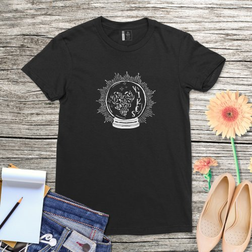 Yikes Shirt Fortune Teller Celestial Funny Tarot Shirt Women Celestial Crystal Ball Tee Lady Self Care Shirt