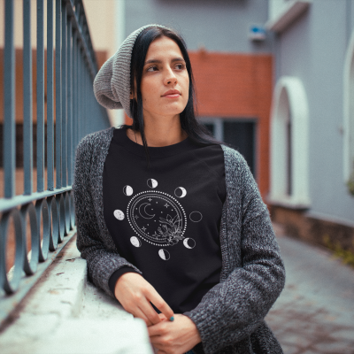 It's Just A Phase Shirt Women Novelty Moon Astrology T-Shirt Women Casual Lunar Cycle Astronomy Tee
