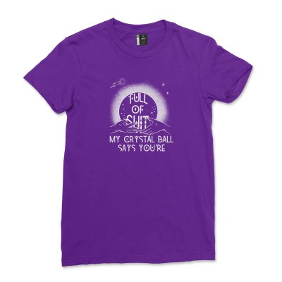 Fortune Teller Crystal Ball Shirt Women Halloween Mystical Hand Full Of Shit T shirt Funny Goth Witch Tee