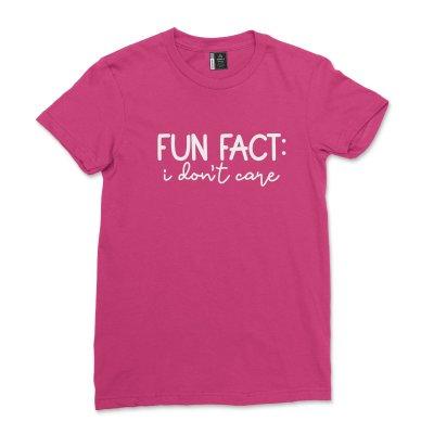Fun Fact I Don't Care Shirt Women Sarcastic Sassy T-Shirt Funny Saying Quotes Tee Shirt with saying